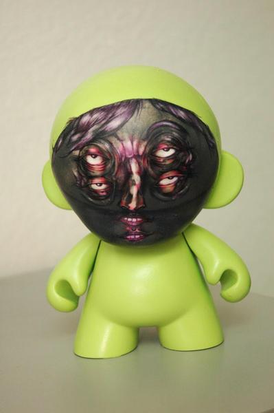 Vinyl Munny Figurine, Ballpoint, spraypaint on vinyl doll, 2006